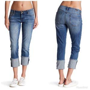 Kut from the Kloth Cuffed Raw Hem Jeans